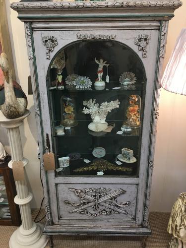 Antique French vitrine