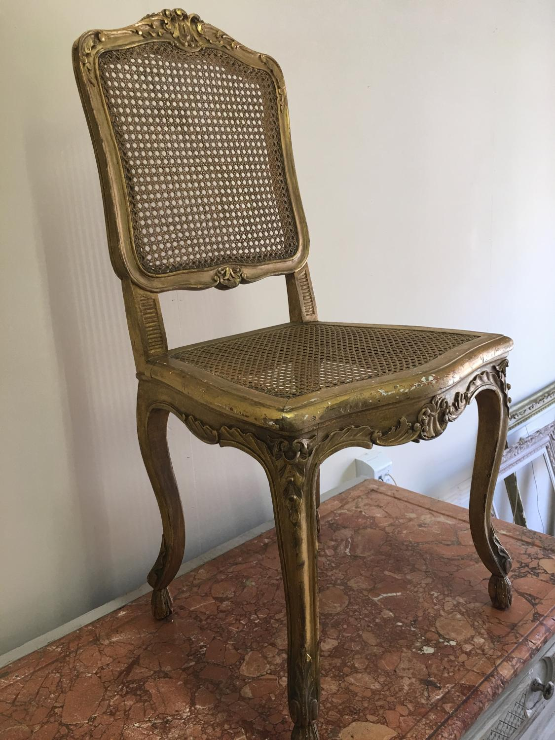 Antique French gilded chair 19th century