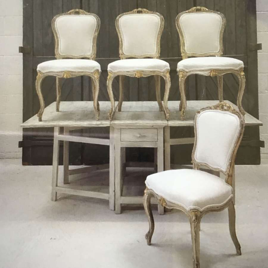 French 1880s set of dining chairs
