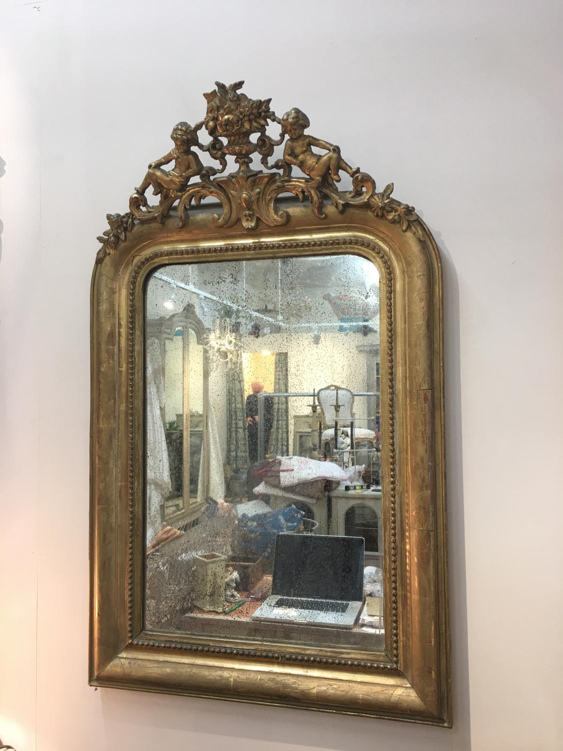 French mirror with putti