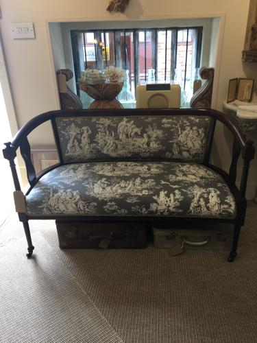 Edwardian English two seater sofa