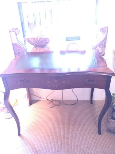 Edwardian inlaid ladies desk