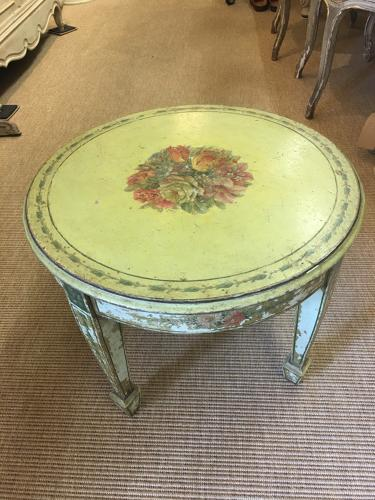 Antique round French painted table