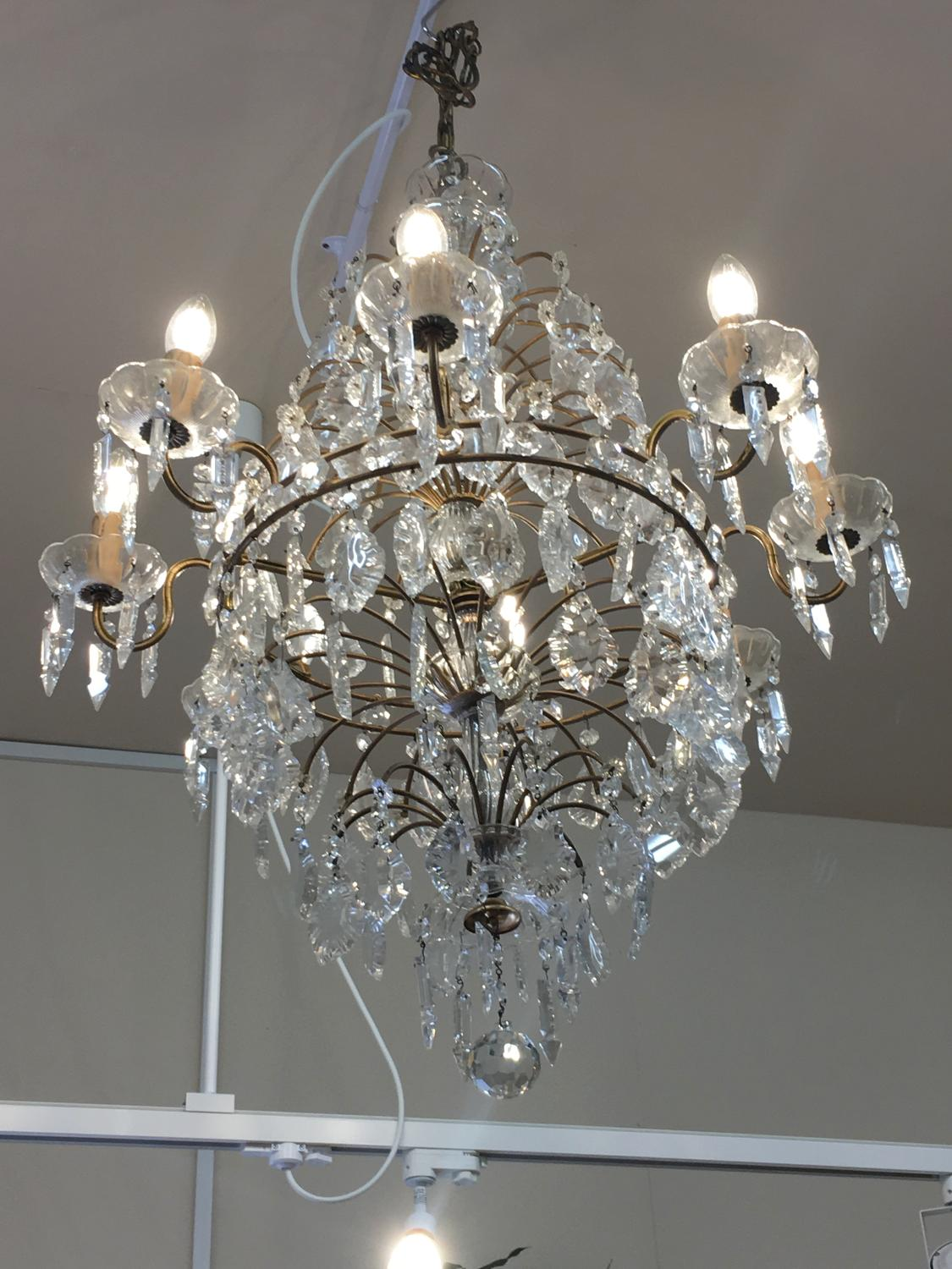 Italian Murano glass chandelier 1930s