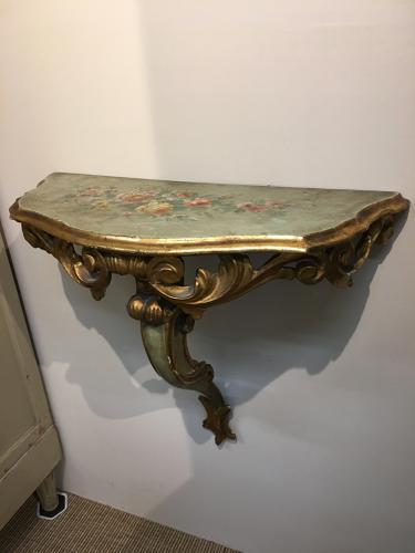 Pair of Italian Florentine console tables