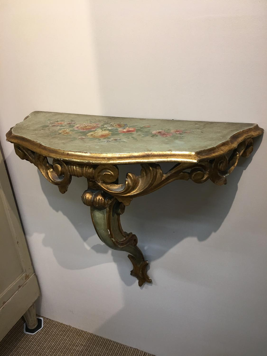 Pair of Italian Florentine console tables