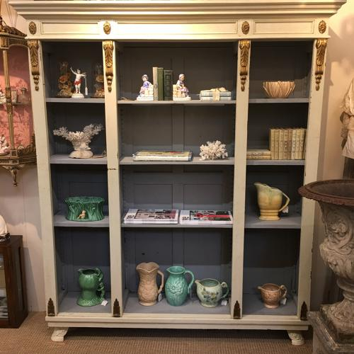 French painted bookcase c 1900
