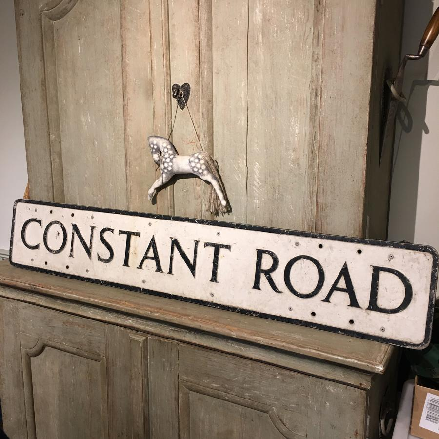 "Vintage road sign ""Constant Road"""