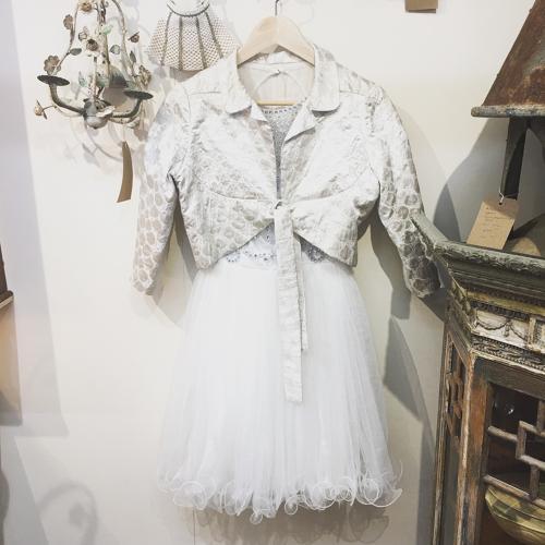 Vintage silk jacket and tulle dress