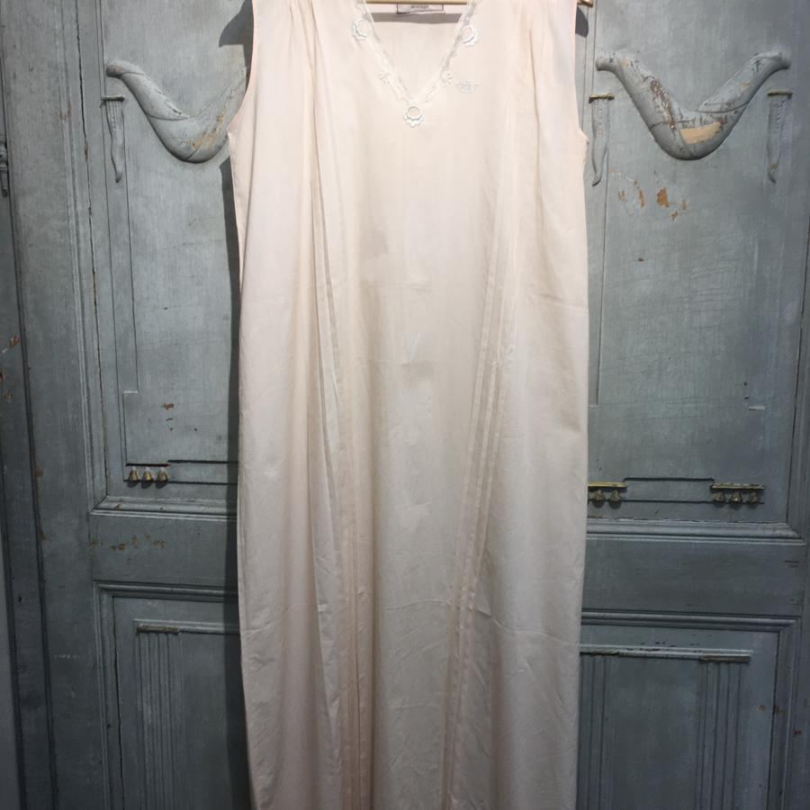 Vintage peach cotton French slip