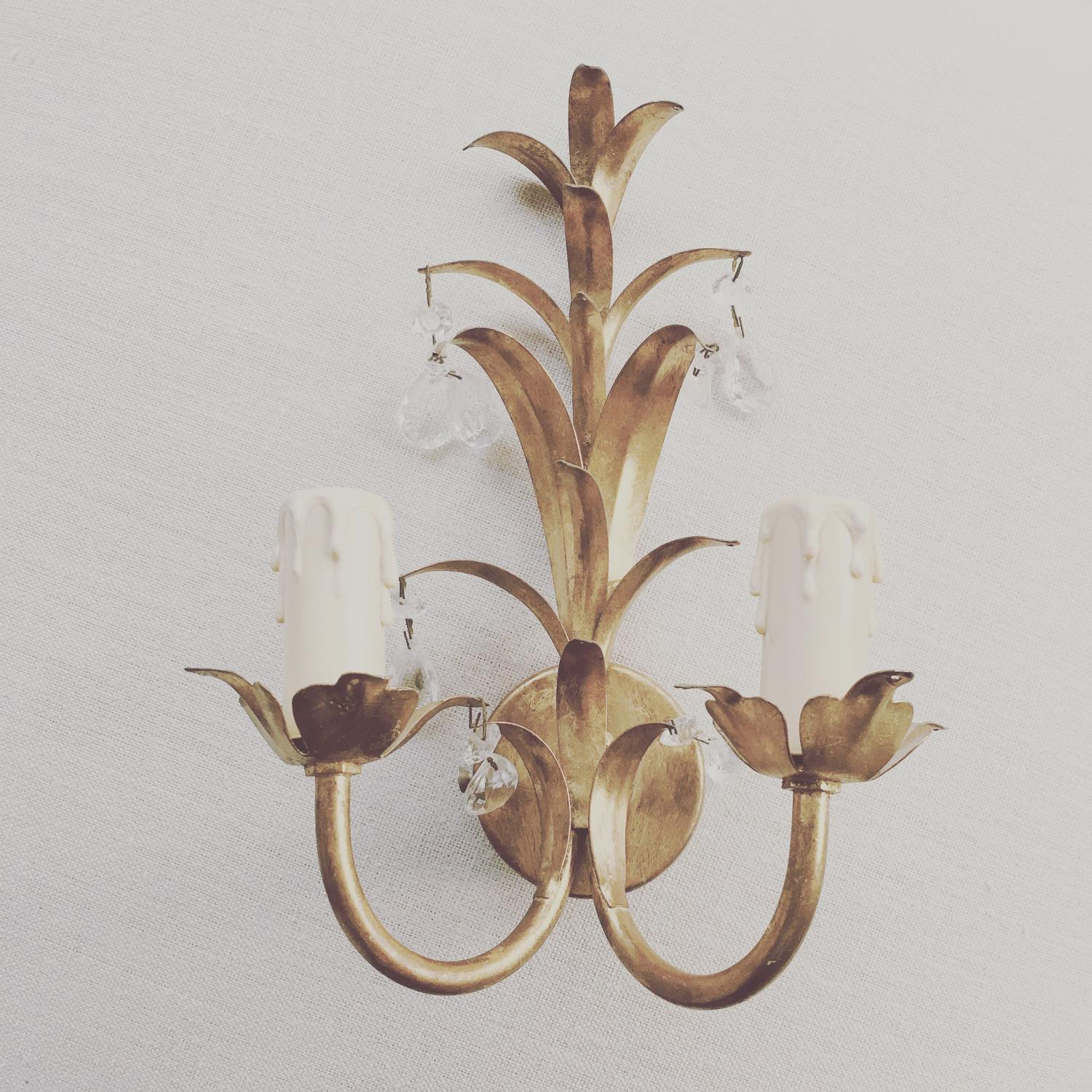 French tole wall light
