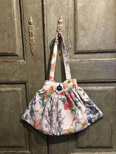 Vintage fabric handbag handcrafted by Niki Fretwell
