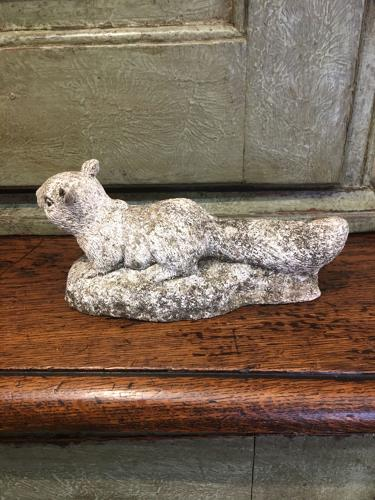 Squirrel ornament for home or garden