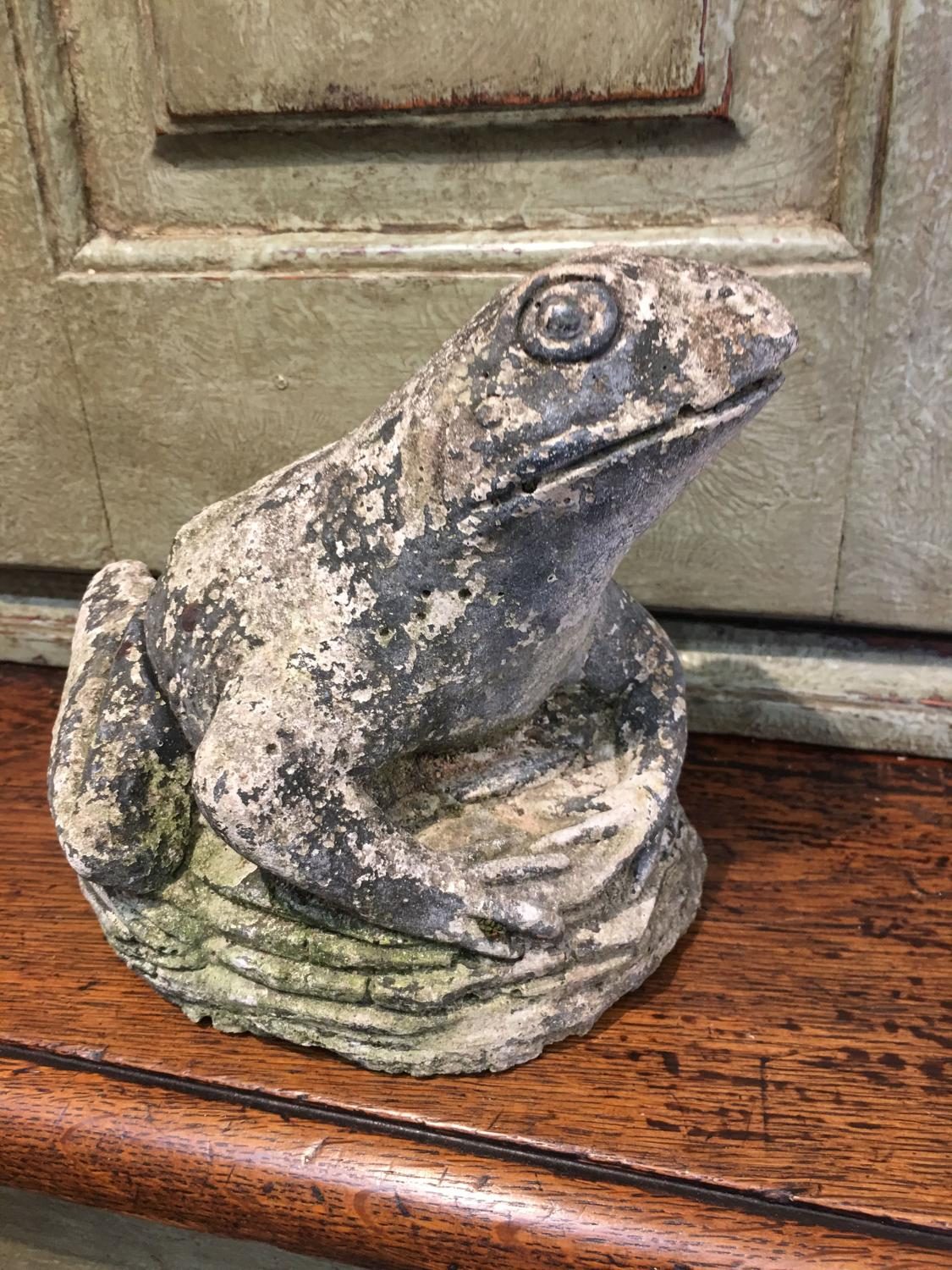 Vintage frog ornament for garden or home