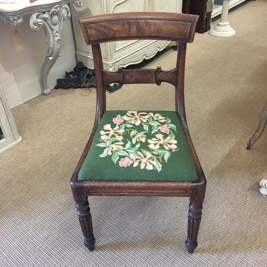 Regency chair with tapestry seat
