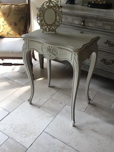 Vintage French painted dressing table