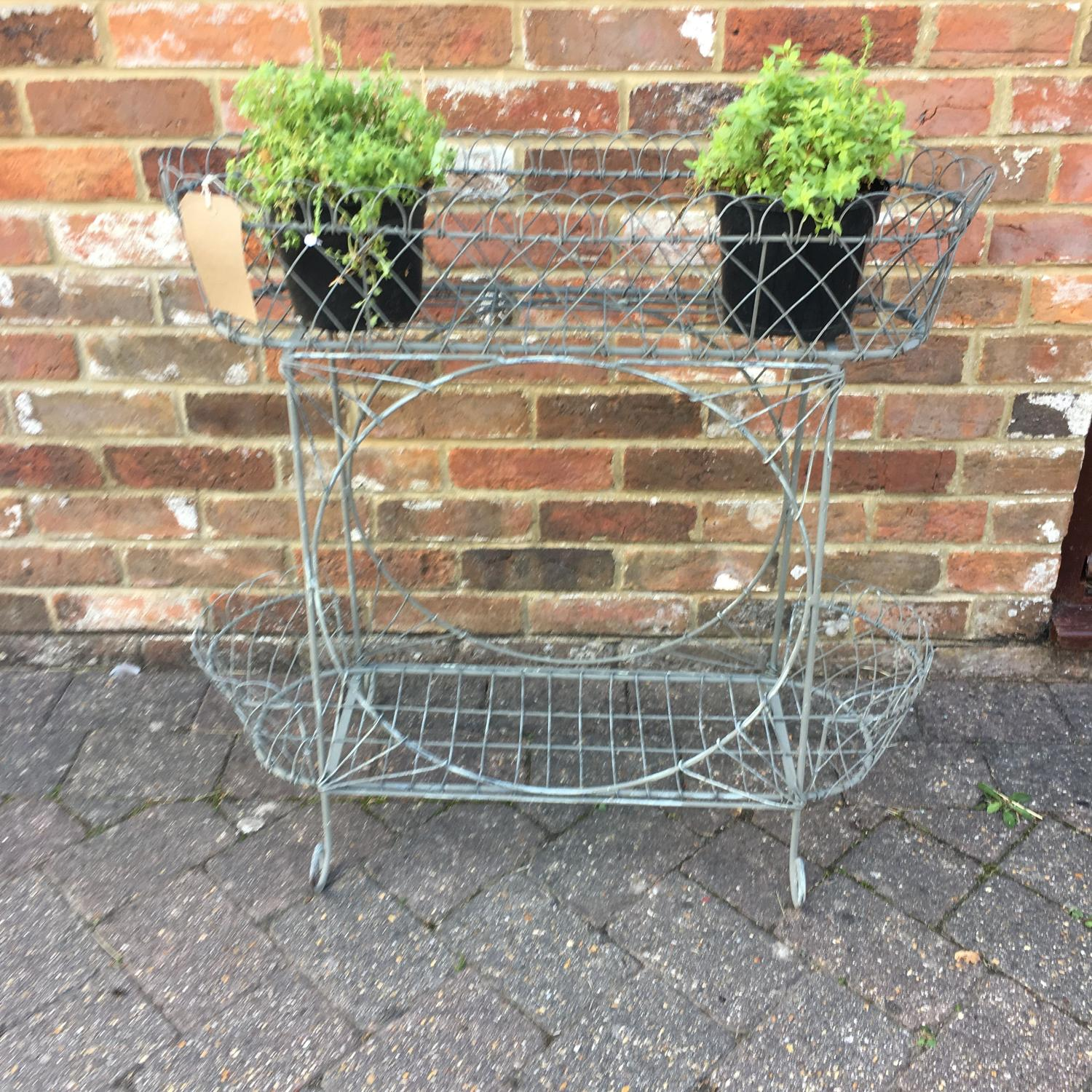 Decorative painted wire planter