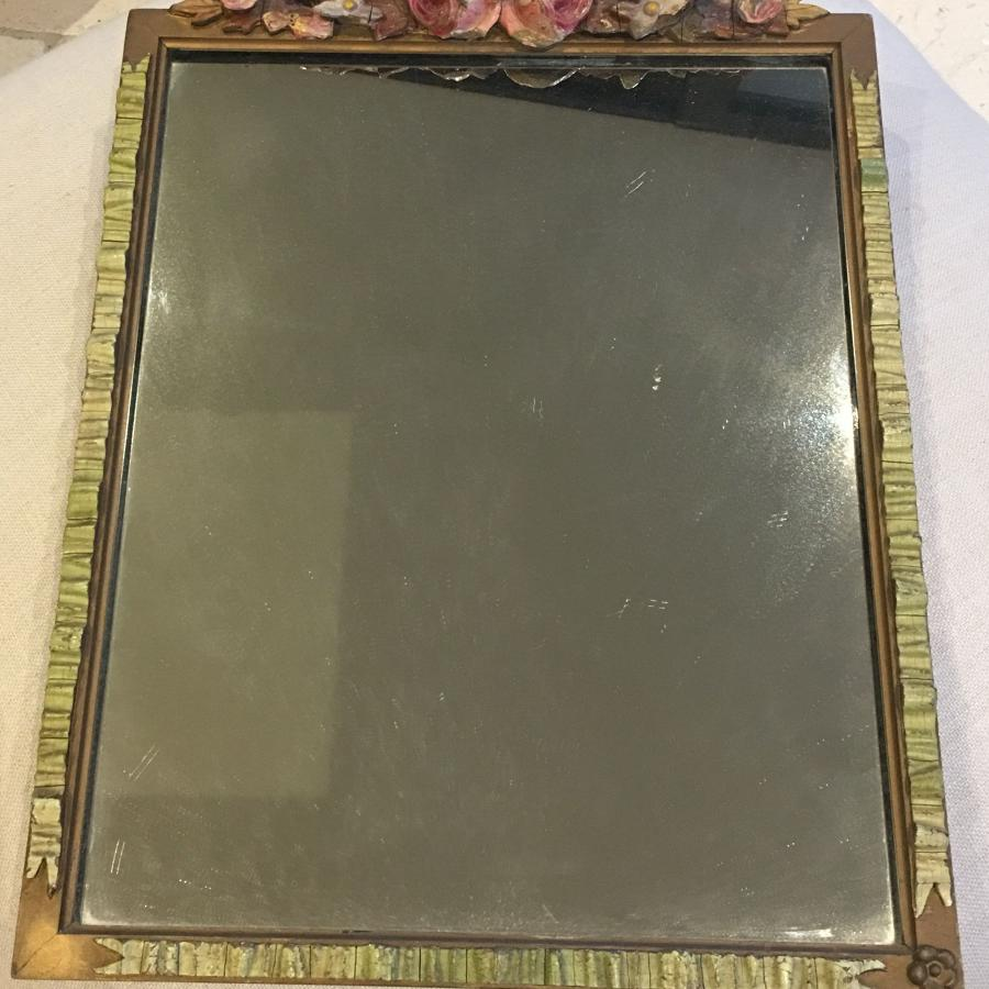 Decorative 1950s barbola mirror
