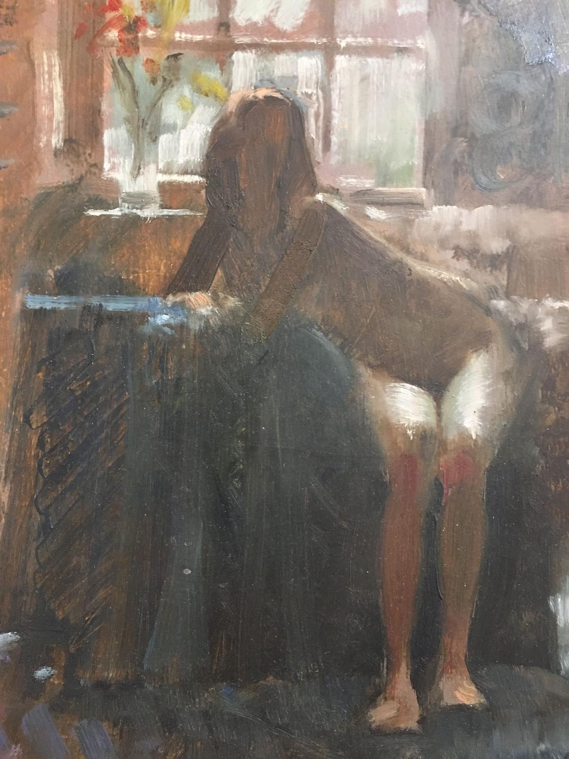 Debbie nude oil by John Richard Haddock