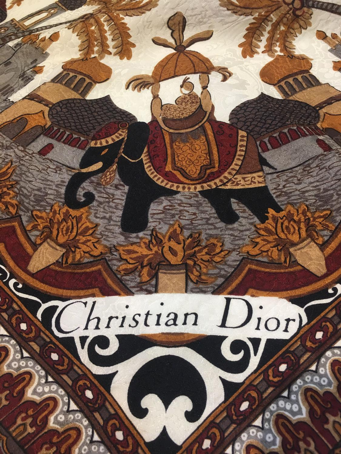 Vintage (new) Christian Dior silk scarf