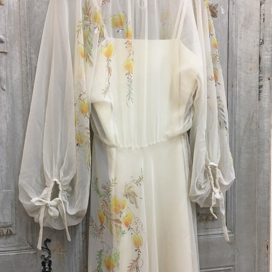 Trudi McCarthy, London handpainted 1970s dress