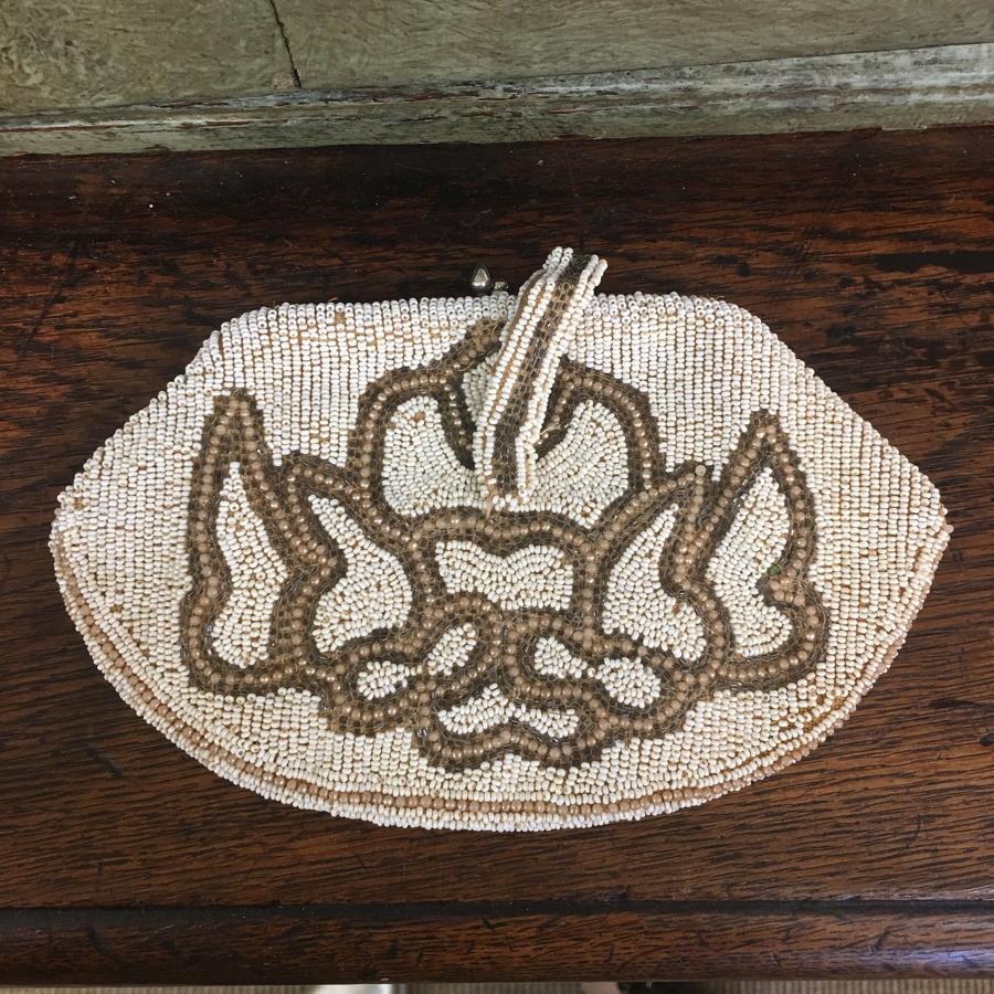 Antique beaded bag