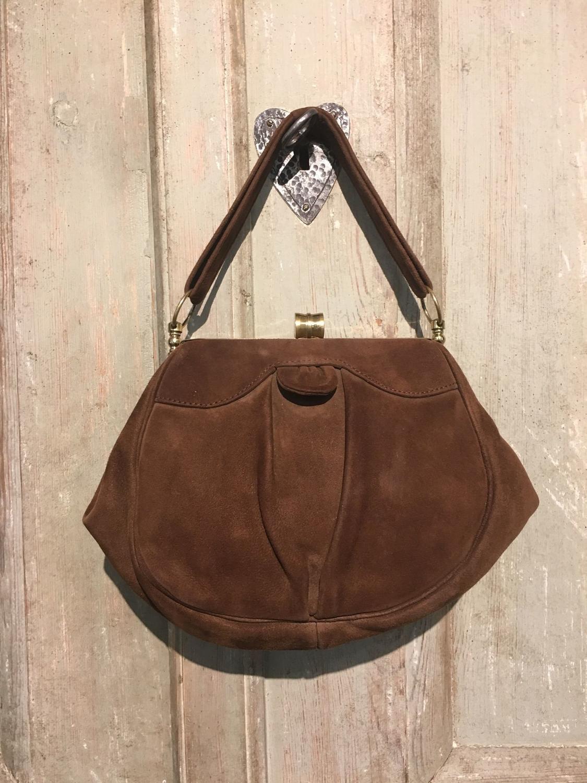 1930s Suede handbag