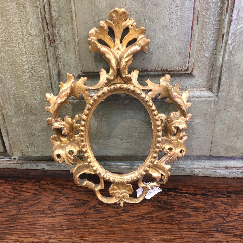 C 1900 Florentine gilded wooden frame
