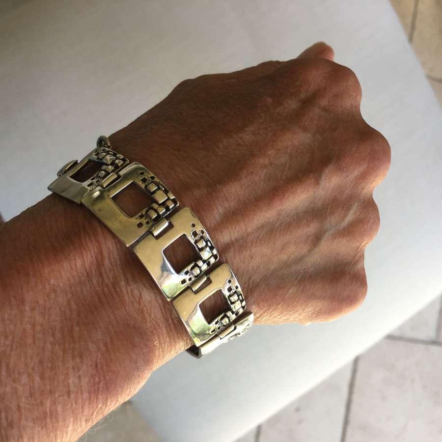 1960s h/m silver bracelet Brutalist design