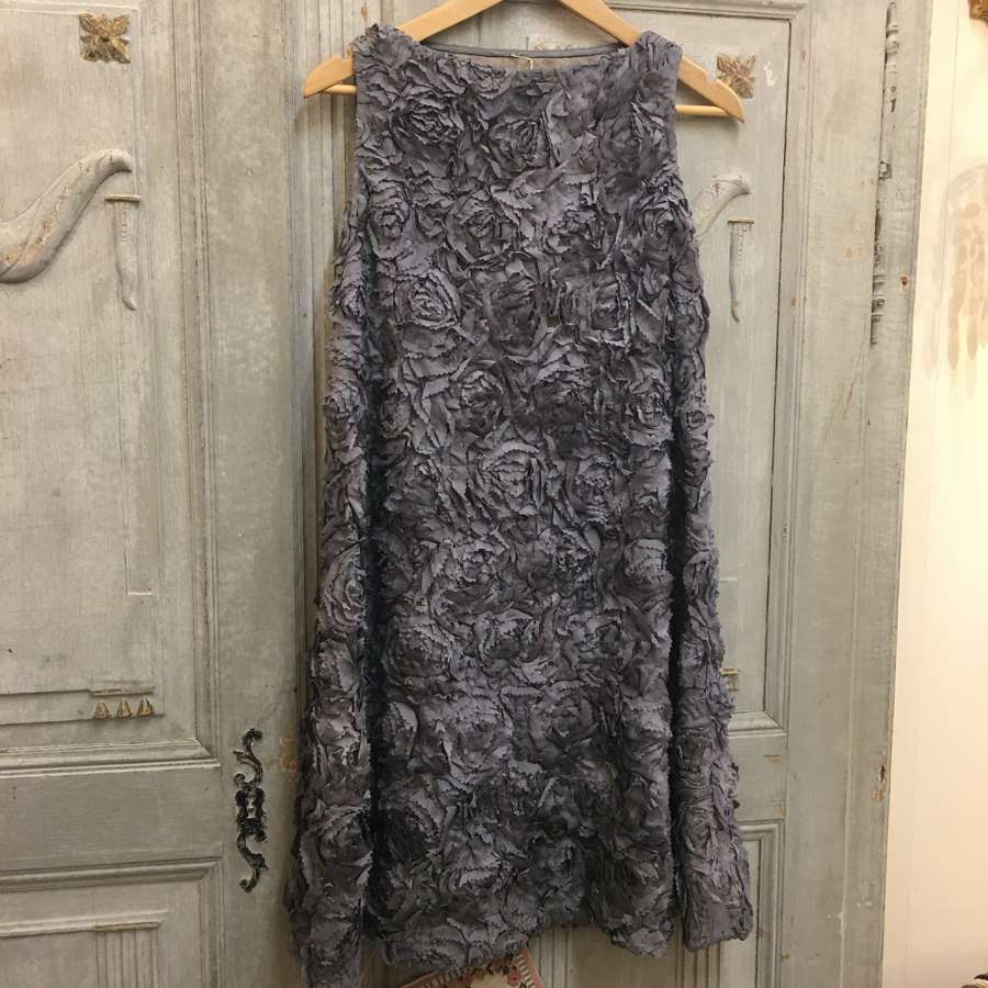 Grey lined silk dress size 10-12 (UK sizing)