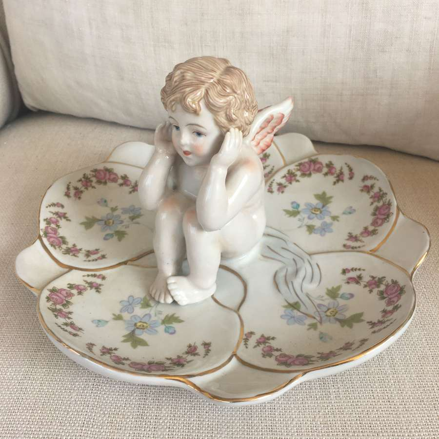 German china cherub dish