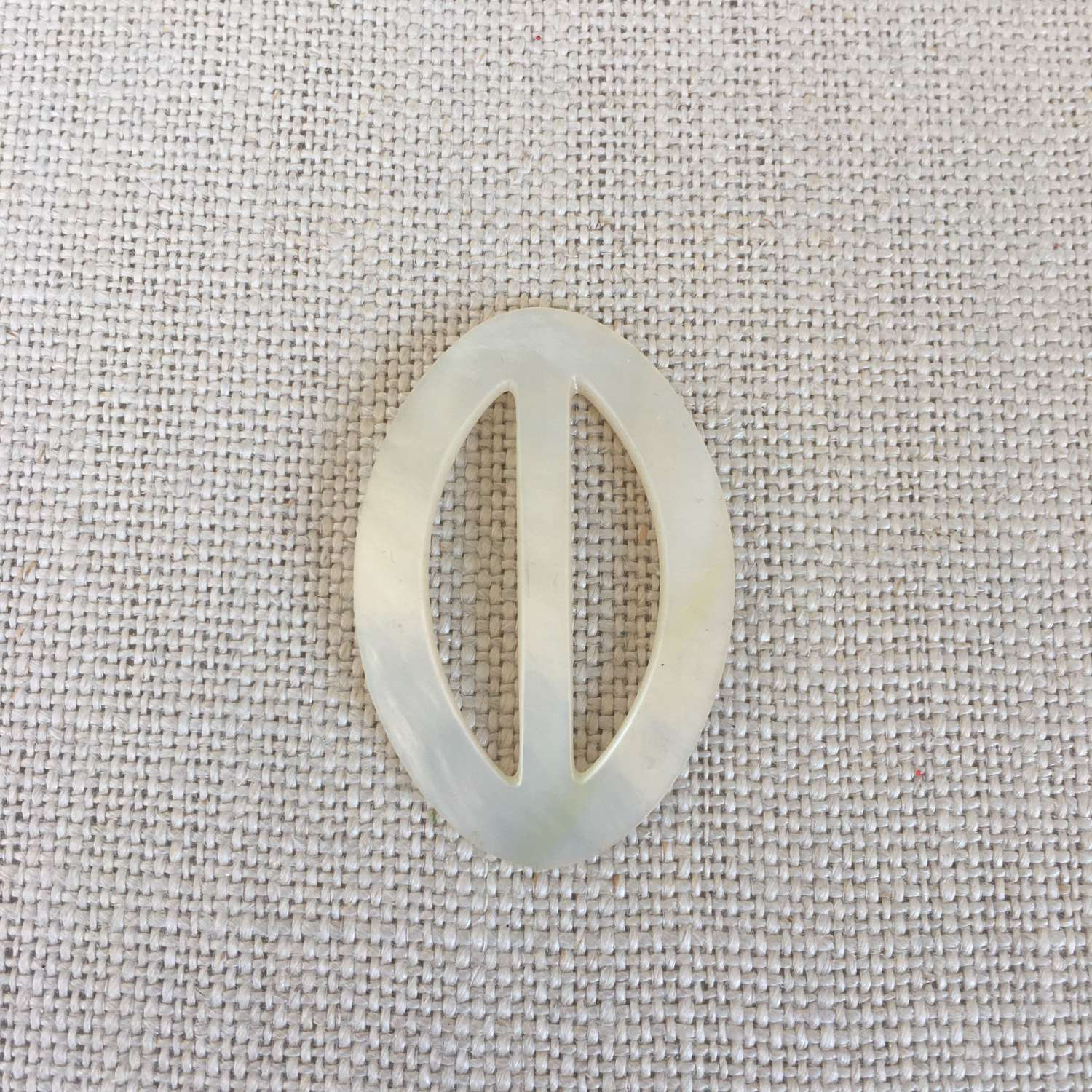 Vintage oval mother of pearl buckle
