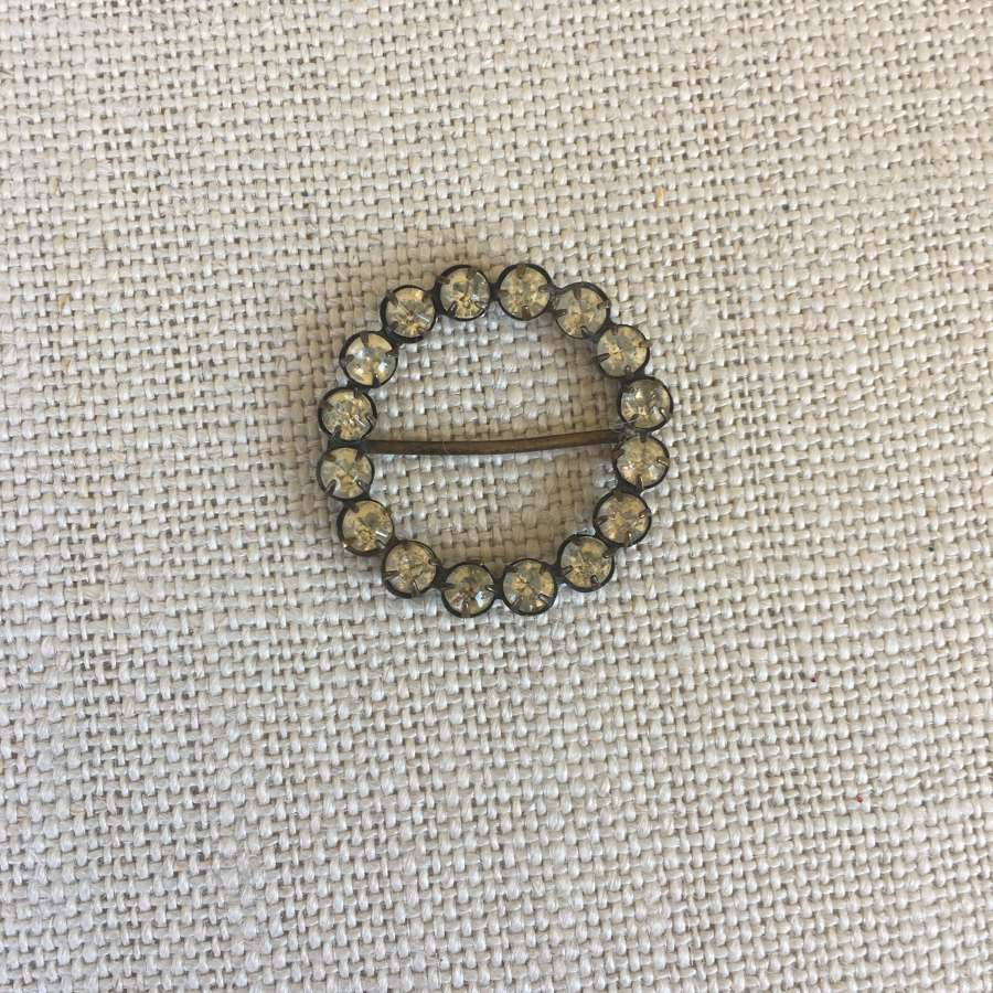 Small round vintage paste buckle