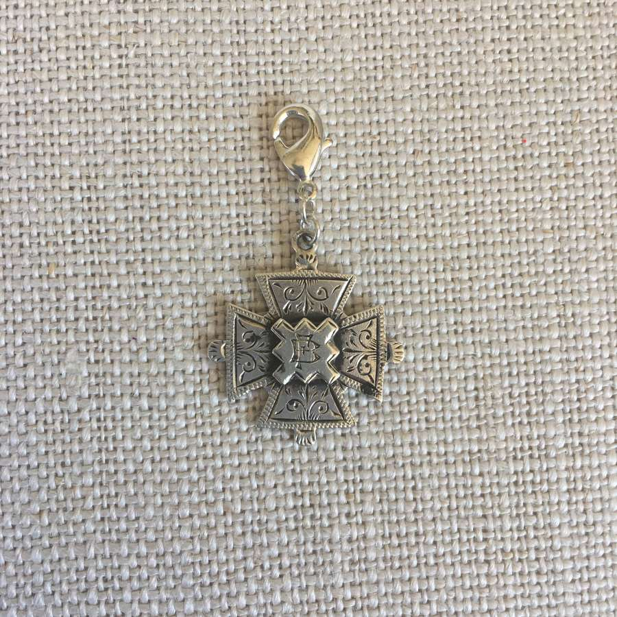 Antique 1901 h/m silver cross