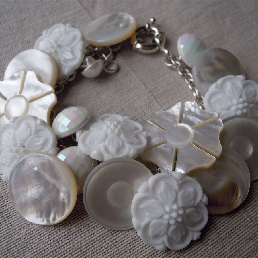 Vintage and antique button bracelets made to order