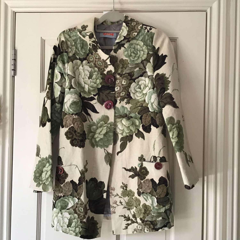 Vintage linen coat By Fanny Adams UK size 12