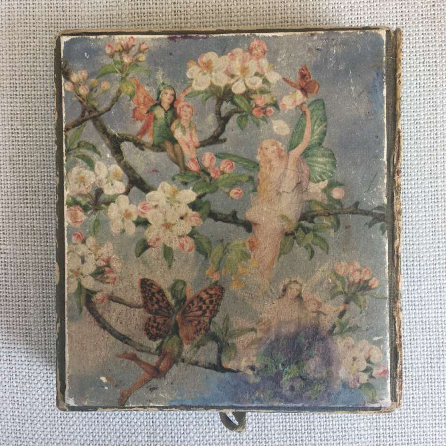 Vintage cardboard box with fairy design