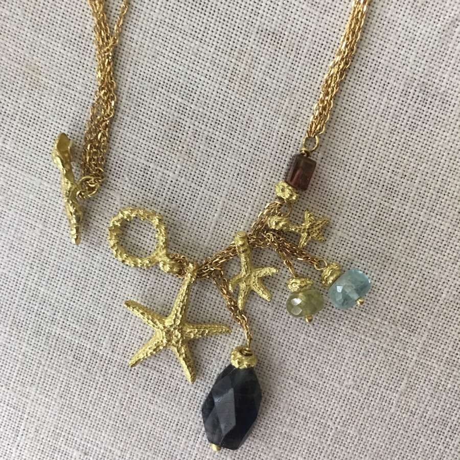 Links of London 18ct gold seashell necklace
