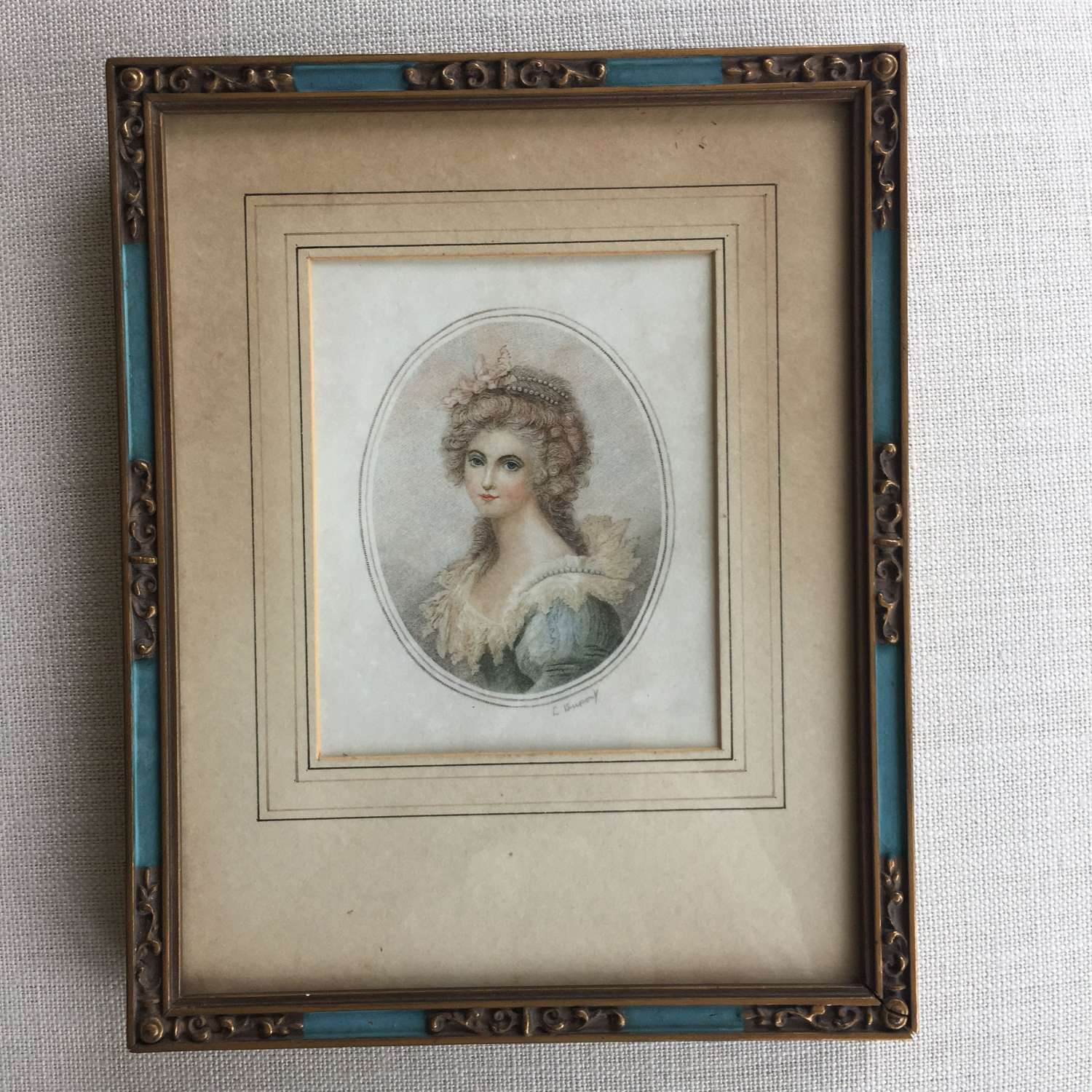 Antique print of Lady Diana Sinclair after Richard Cosway RA