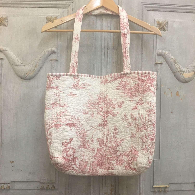 Pink toile bag