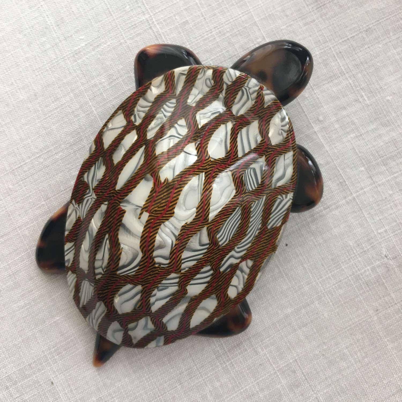 Lea Stein turtle brooch