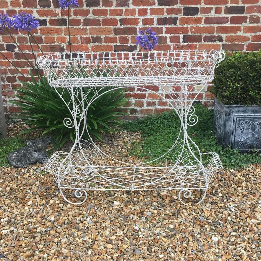 Post War wirework planter in good condition