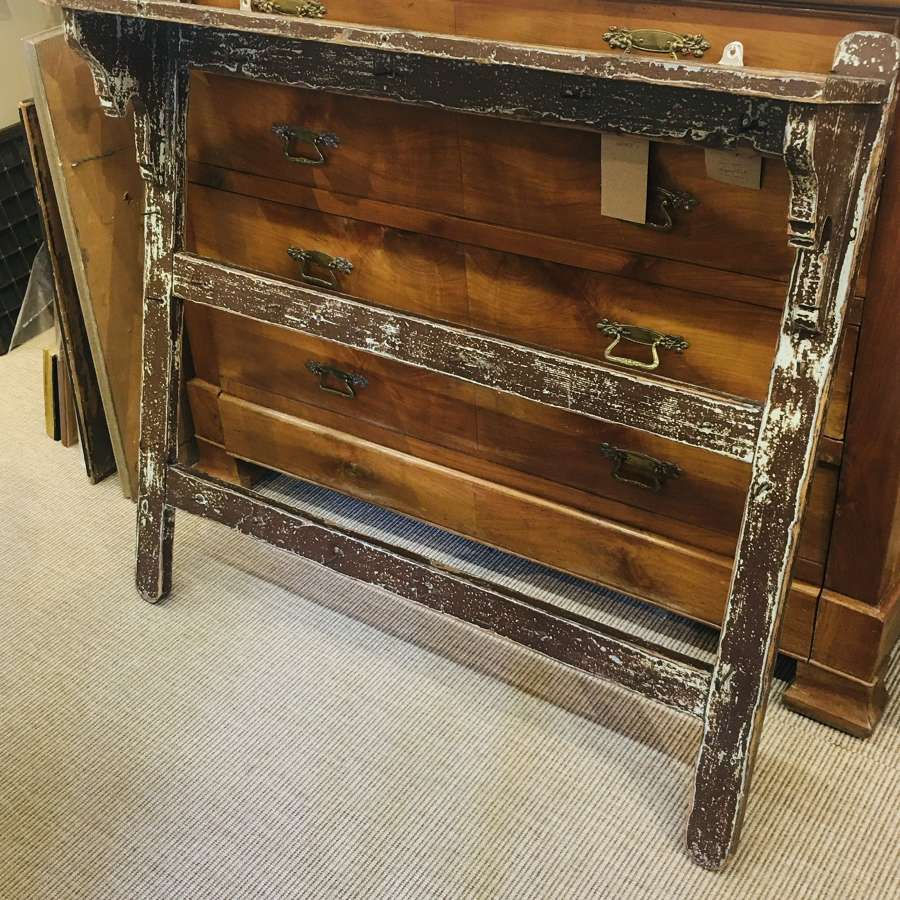 Victorian original painted wall-hanging shelf