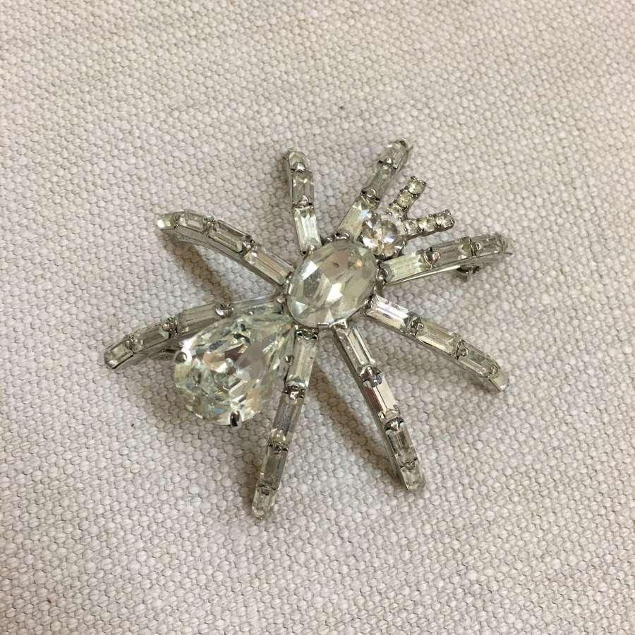 Butler & Wilson paste spider brooch