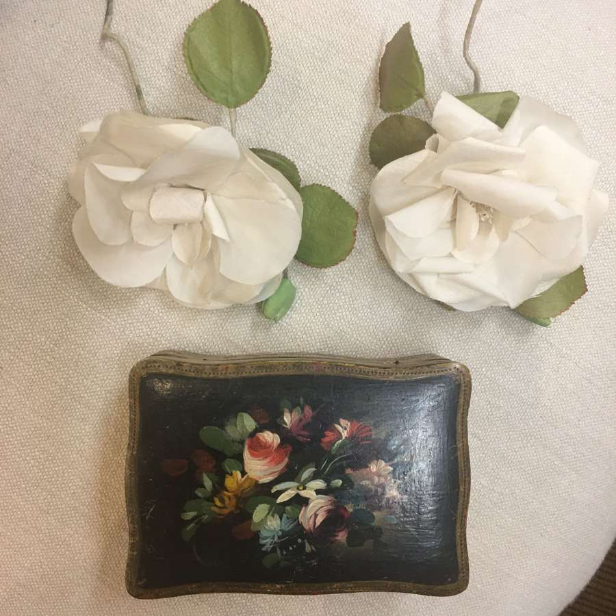 Vintage white millinery rose