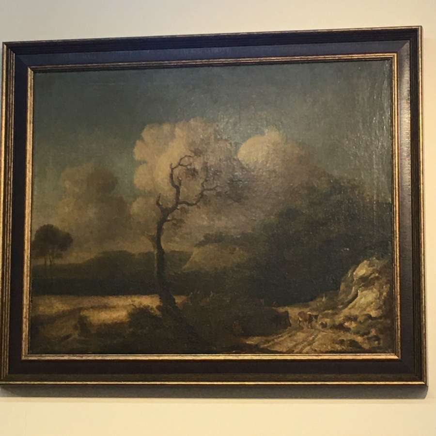 19th century landscape oil painting