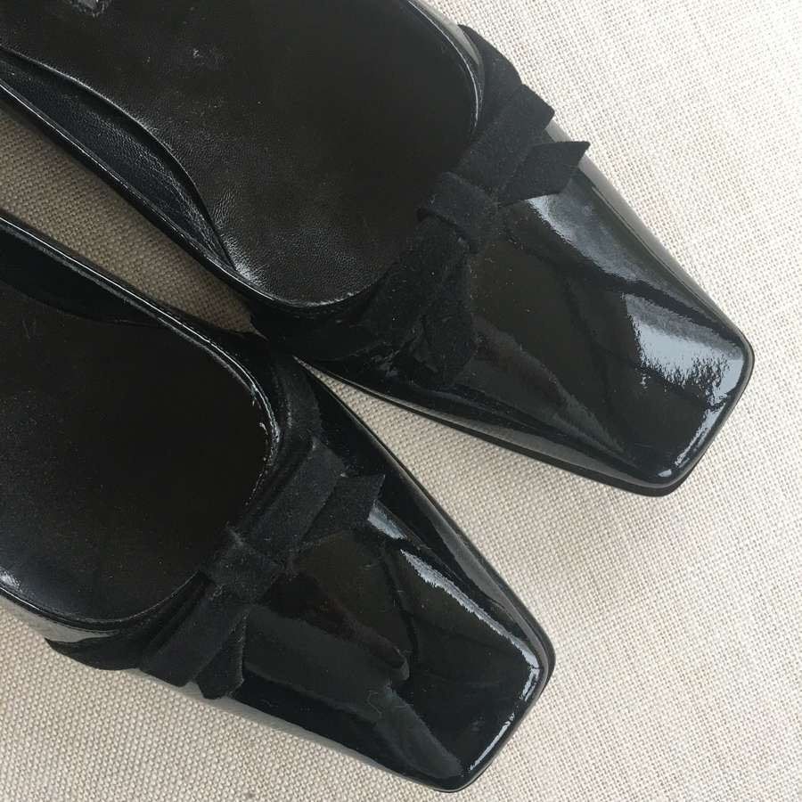 Marilyn Anselm black patent leather shoes size 39