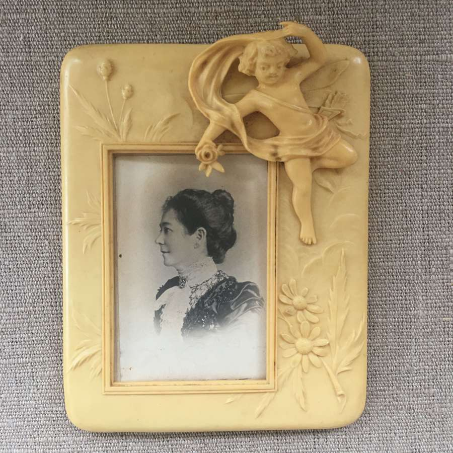 Art Deco 1920s Celluloid cherub frame