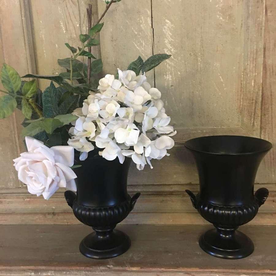 Vintage black Wedgwood urn