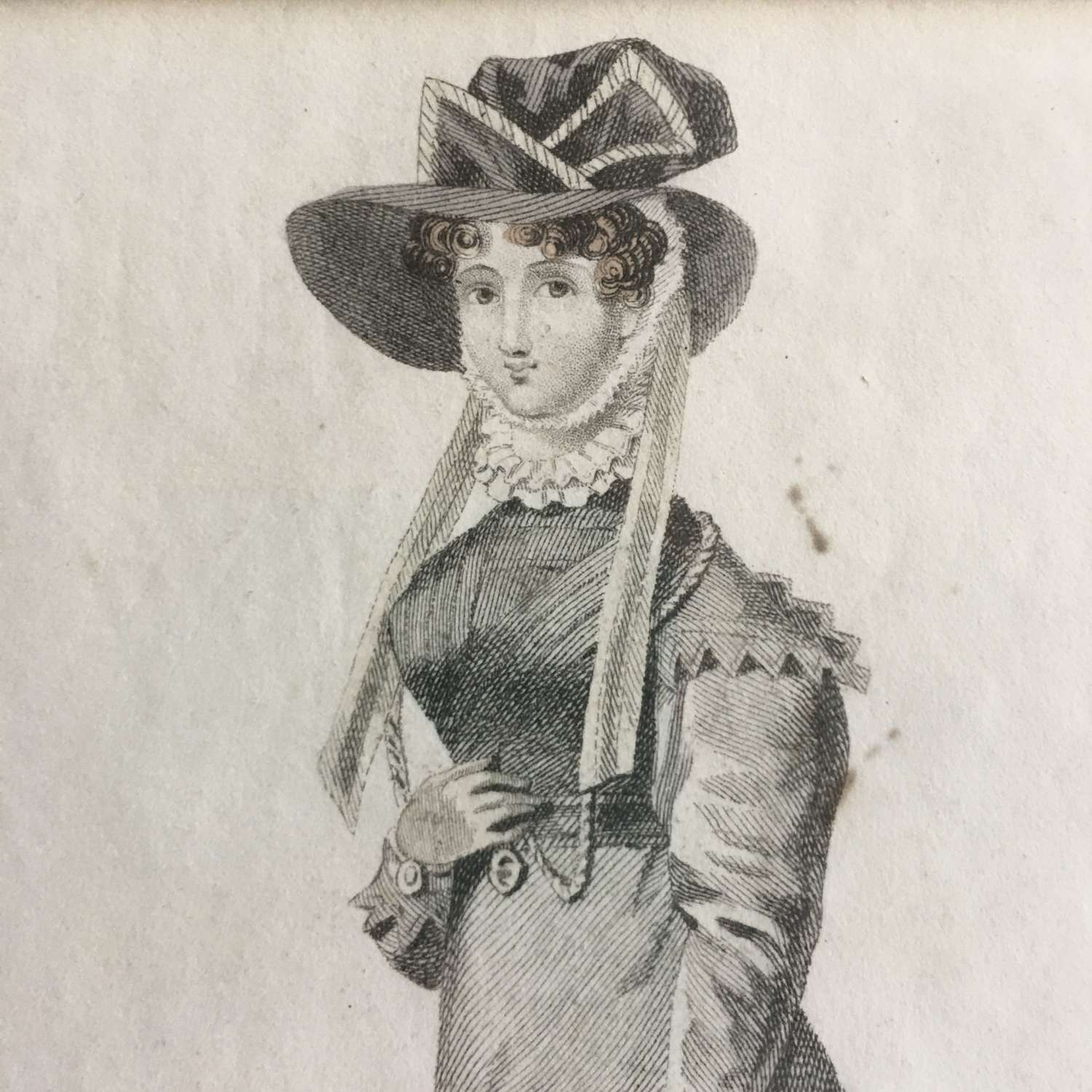 1826 print Of lady in 'Walking Dress'